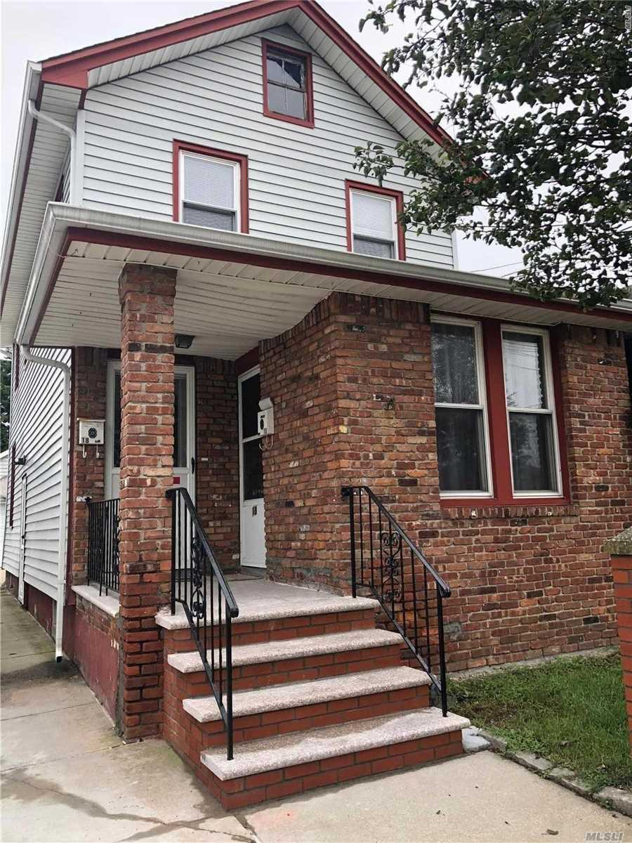 2 Family House, Second Floor Rental, With 2 Bedrooms, 1 Full-Bath, Living Room/Dinning Room, Also With Eat-In-Kitchen. A/C, Stove, Refrigerator, Washer, Dryer, And Dishwasher Included. Not Include Gas, Electric And Heat.