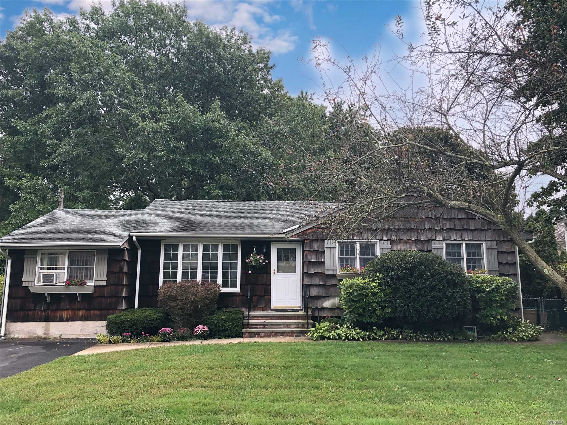Wideline Exp Ranch Nestled On Over 1/2 Acre Of Property In Renown Sayville School District. Hardwood Floors, King Size Master Bedroom, Full Basement, Come Make This Your Own.