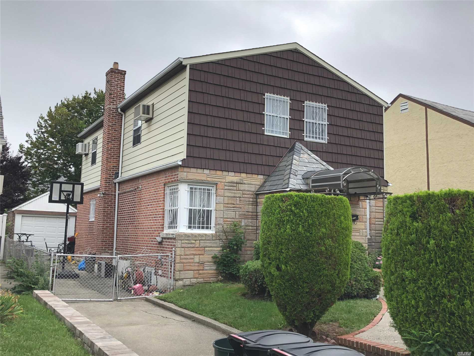 Beautiful Detached Brick/Frame Colonial Nestled On A Quiet Middle Block Section Of Fresh Meadows.Lot Size 40X100, Building Size 25X40. Huge 3 Bedrooms And 3 Full Baths And A Spacious Eat-In-Kitchen, Formal Dinner Rm, Extra Family Rm, With One Car Detached Car Garage And Private Backyard. 3 Mins Walking Distance To Bus # Q30, Q31, Q17, Q88, Qm1, Qm5, Qm7, Qm8, Qm31, Qm35