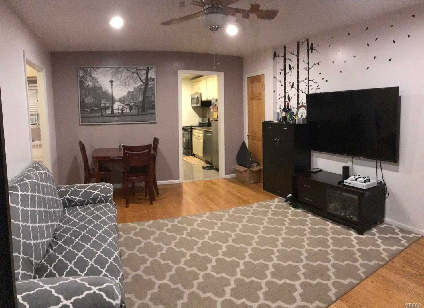 Excellent Condition 2 Bedrooms Apartment On 1st Floor, Nearby Lirr, Nyct Buses. Garage Rental Is Available.