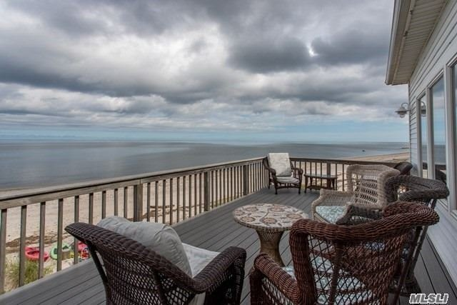 Picturesque Waterfront Beach House/Year Round Residence, Walkout Beach Access. 5 Bdrms, 3 Fbths, Mstr Suite W/Balcony Over Looking Li Sound, Entertainment Style Open Floor Plan, Abundance Of Natural Light, Breath Taking Waterviews, Romantic Sunsets. Trex Decking, Bulkhead, Ideally Located To Vineyards, , Local Restaurants, Local Farms, Splish Splash, Tanger Outlets & Festivals.The List Goes On! Experience The North Fork