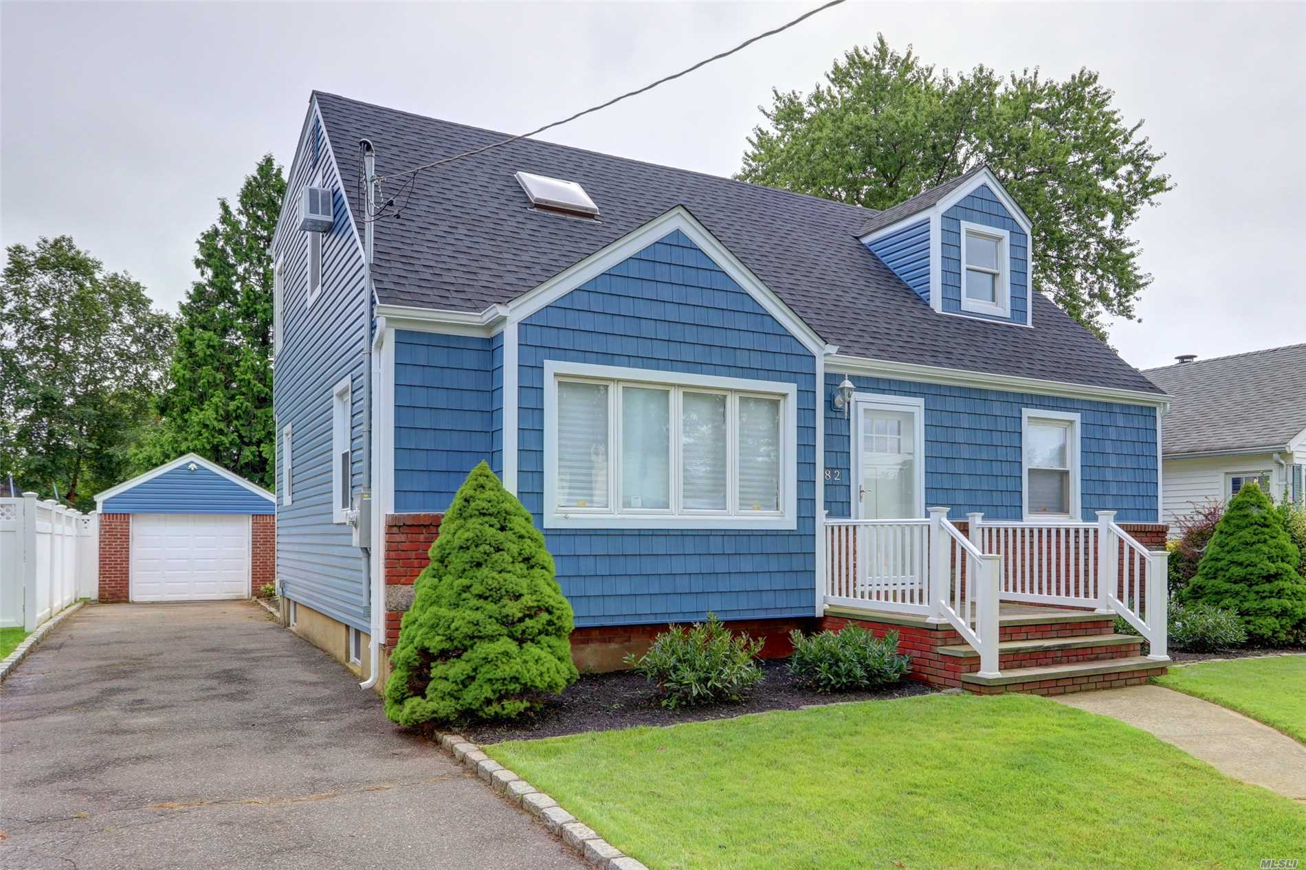 Completely Renovated Expanded Cape Cod Offers: Eik W/ Stainless Steel Apps, Granite Counters, Subway Tile Back Splash, Hwflrs Throughout, Dining Area, Lt, Fam Rm, 2 Full New Bathrooms, Full Part Fin Bsmt, Storage, Utilities, Updated Elec, 1 Car Garage , Beautiful Deck, Low Taxes, Oceanside Schools District 11, True Taxes Are 13, 177.00 Star Program For This Area Is Approximately 1500. By Appt Only