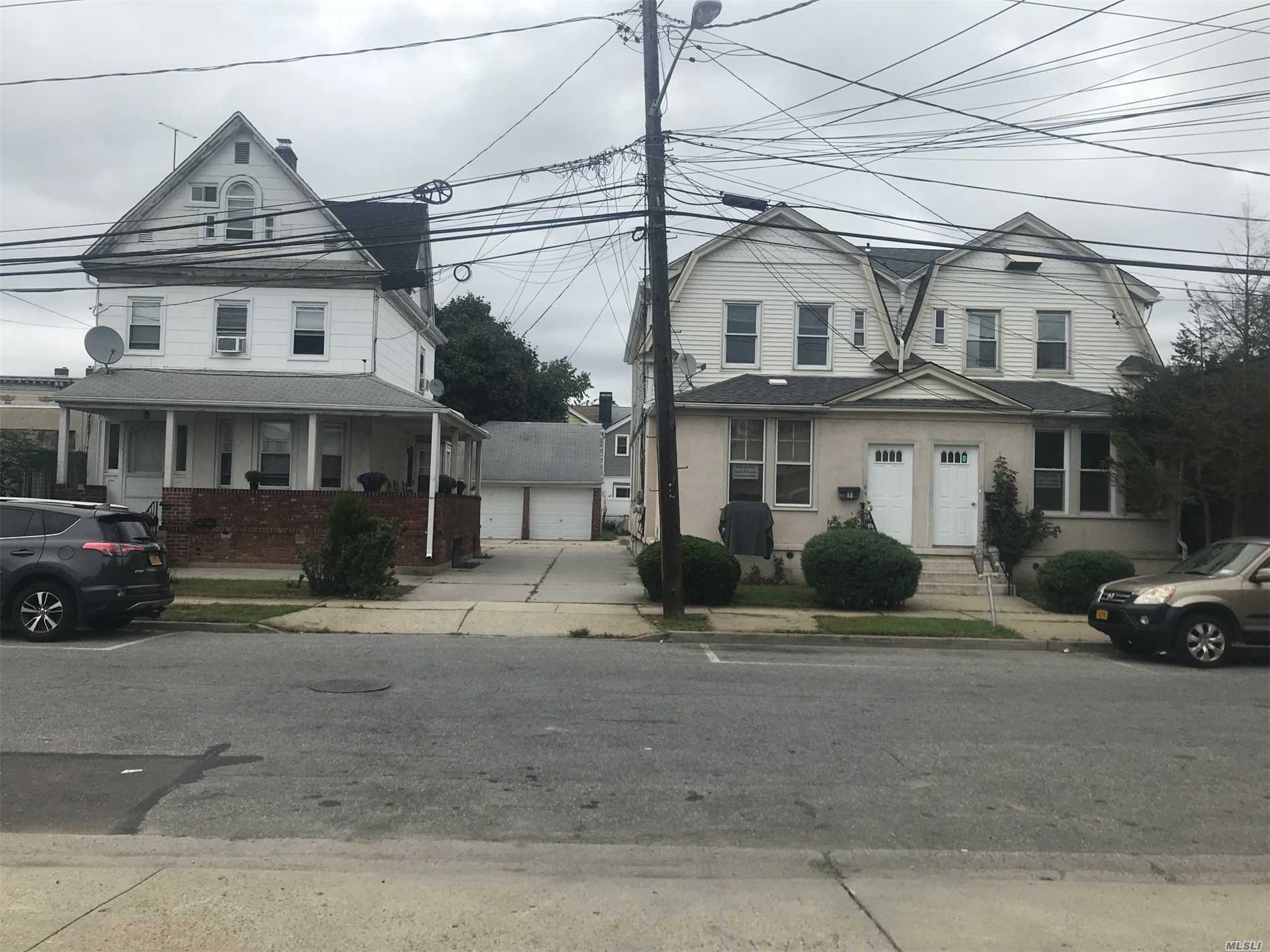 Two - Two Family Homes Package. 11Vb Is At 2Br/ 1Ba Over 1Br/2Ba With Huge Fin Base W/Ose. 13/15 Vb Is A Side By Side (2 Duplexes) Each Have 4Br/3.5Ba. Property Also Has 2Car Garage And Large Driveway. Close To Lirr, Buses, Schools And Shopping. Some Units Occupied