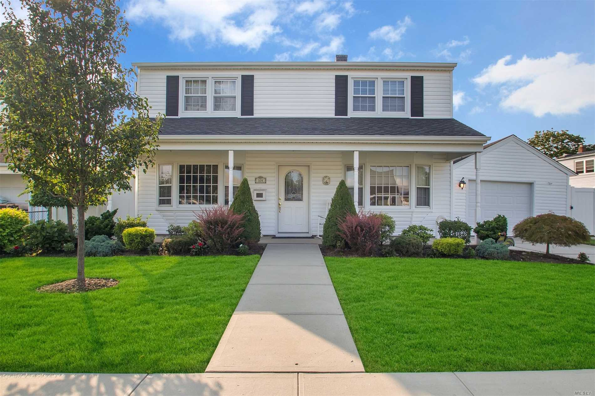 Beautiful Colonial, 4 Bedrooms, 2 Full Bathrooms, Possible 5th Bedroom Or Office, Eik With Stainless Steel Appliances, Formal Dining Room, Great Room With Fireplace, Sliders To Back Yard, 2 Year Old Hot Water Oil Boiler System, Oversized Garage, Nice Porch. A Must See!