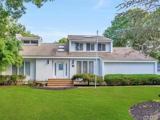 Magnificent 3200 Sq. Ft Open Plan Post Modern In Wading River Estates! Parklike Property Pool & Beautiful Landscaping. Truly A Special Home W/Custom Features, Chef's Kitchen W/Quartz Counters, 2 Grand Entry Foyers, Master Suite W/New Bth, Beautiful Finished Bsmnt W/2 Offices, 2 Baths, Media/Playroom & Sauna, 2.5 Garage W/Loft