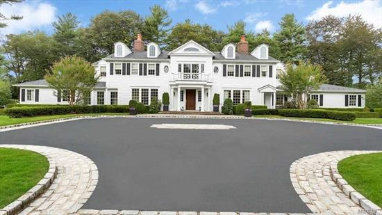 Beautiful 7 Bedroom Colonial On 2+ Flat Acres W Spectacular Golf Course Views On Quiet & Private Cul De Sac Setting. Oak Wood Floors & High End Finishes Throughout. Fantastic Finished Basement W Luxurious Bar & State Of The Art Theater. Great For Entertaining! Guest Rm Ensuite On 1st Flr. Newly Renovated Gunite Pool, Generator, 3 Car Garage, 2 Laundry Rms, Outdoor Fire Place. Jericho Sd.