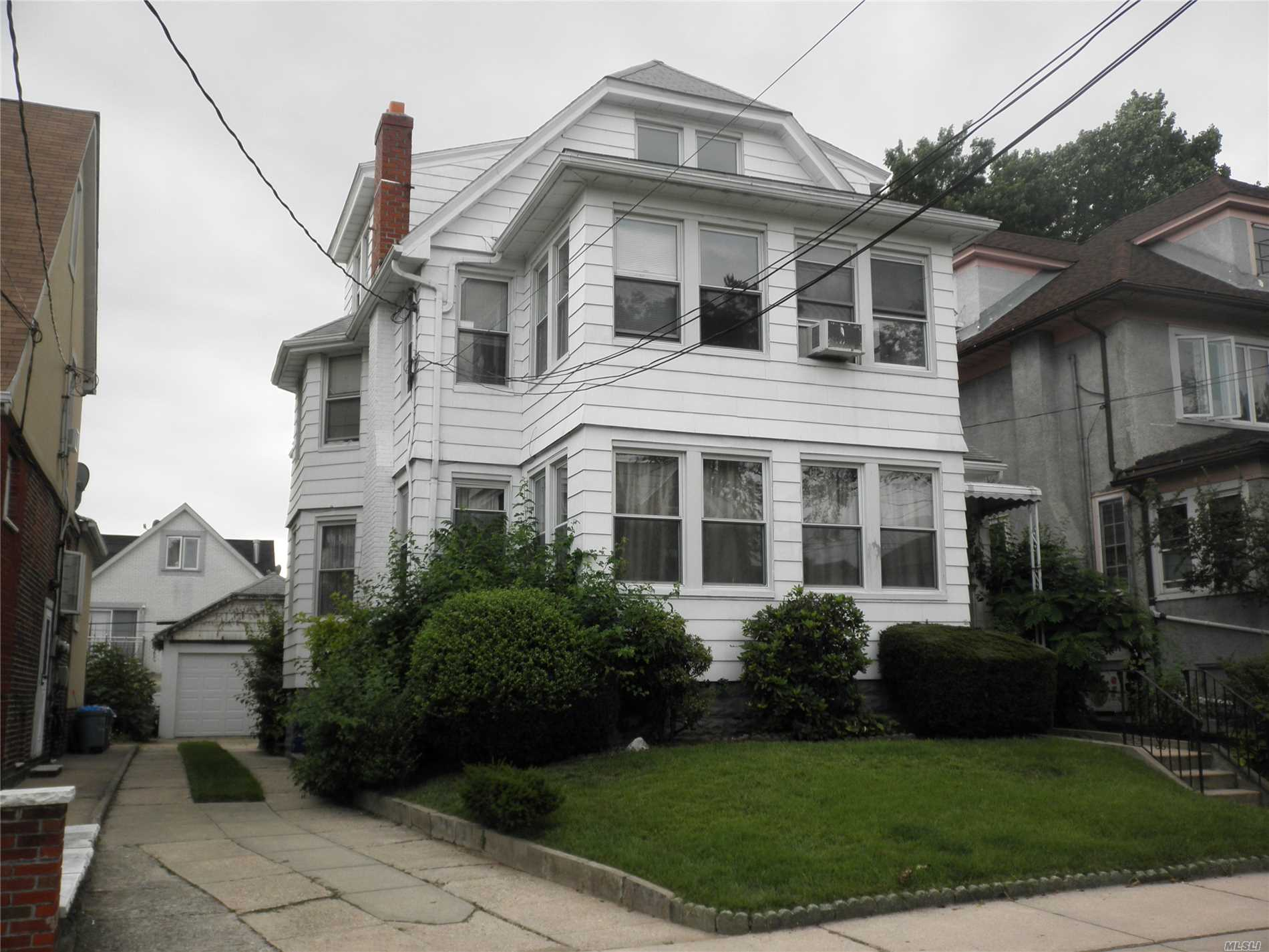 Rare Detached 3 Family In Prime Flushing. Minutes Walk To Bus On Sanford Ave, Lirr. Great Potential!