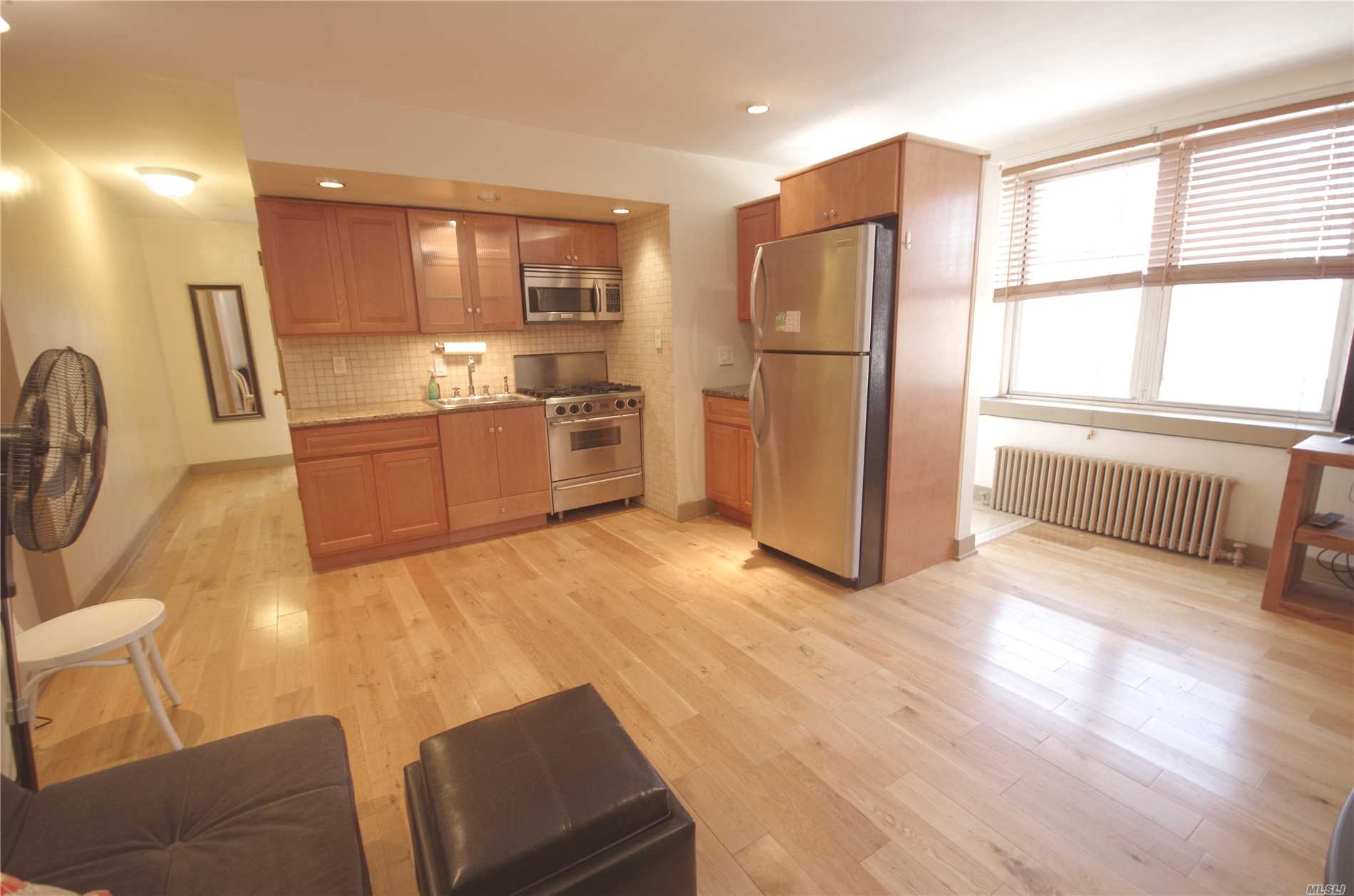 Sunny And Bright Unit, Updated Kitchen And Bath, Nice Hardwood Floors; Low Maintenance. Closed To Lirr And Bus Station Q28/Q65 Ti Downtown Flushing. Laundry Room Around. Income And Credit Require By The Board. No Flip Tax 100% Equity. Assessment Fee $74.52 End Of 12/31/2018. Coop Tax Bat Credit $97.46