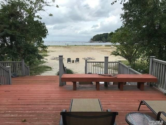 Life's A Beach! Enjoy Beautiful Sunsets And Your Own Private Beach With This Immaculate 2 Br, 1.5 Bath Water Front Bungalow Featuring Living Room/Dining Room, Eat-In-Kitchen, Enclosed Porch, Washer & Dryer And Deck. Off-Street Parking For 2 Cars, Hardwood Floors, Pets Allowed. North Shore Schools.