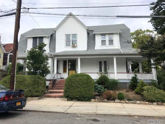 Huge House With Foyer, Lr, Fdr, Eik, Masterbedroom With Full Bath On First Floor. 2nd Floor Has 2nd Masterbedroom Plus 3 Additional Bedrooms And Laundry/Wetbar Room. Full Bath. Walk Up Stairs To Storage Attic. Brand New Kitchen With Side Eating Area, Fdr And Huge Lr With Door To Wrap Around Porch. Full Basement With Bath, New Gas Heat, Side Prize Winning Mature Garden.