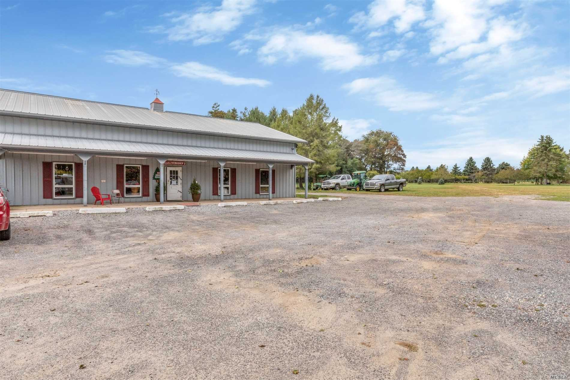 Once In A Lifetime To Purchase A Successful Cutchogue Christmas Tree Farm, Which Consists Of An 1800 Farmhouse 3Br, 1.5Ba Lr, Dr, Eik, Cac. 8000 Sq.Ft. Morton Building, 4 Irrigation Wells, 5.2 Full Rights Acres, 22.7 Ag. Acres For A Total Of 27.9 Ac. Presently Planted With 15-20, 000 Xmas Trees Approx.4, 000 Ready For Xmas 18'