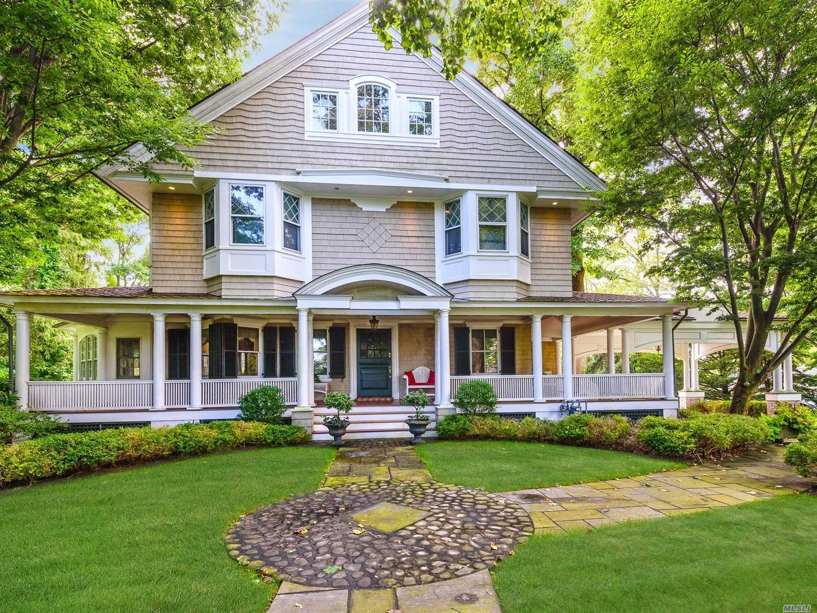 Idyllic Home Located In Sought-After Huntington Bay. Offering A Lifestyle That Embraces The Outdoors With Close Proximity To The Long Island Sound, Huntington Bay, Huntington Harbor And Huntington Village. Superior Curb Appeal And Interior: Full Front Porch, 10' Ceilings, Two Fireplaces, Perfectly Appointed Principal Rooms And Bedrooms. Radiant Heated Eik And Dining Room Designed To Accommodate Large Gatherings. En Suite Master W/Balcony. Gorgeous Private Acre W/Views And Har-Tru Tennis Court.