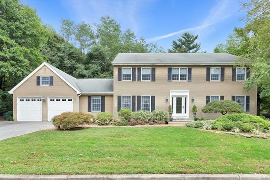 Just Reduced Ho Asks To Make Offers ! Impressive Oversized Colonial Surrounded By Mature Woodland Minutes From The Village.Grand Entrance To Majestic Hall Leads To Extensive Open Floor Plan.Sun Filled Throughout W/Oversized Windows & French Doors.Effortless Flow From Living Room, Dr, Family Room & Large Eat-In-Kitchen. Ag Pool Built Into Two Tier Outdoor Deck. Master Bedroom/Bath W/2 W/Inclosets Along With 4 Spacious Bedrooms And Bath.Thoughtfully Designed With 1st Floor Bedroomw/Full Bath