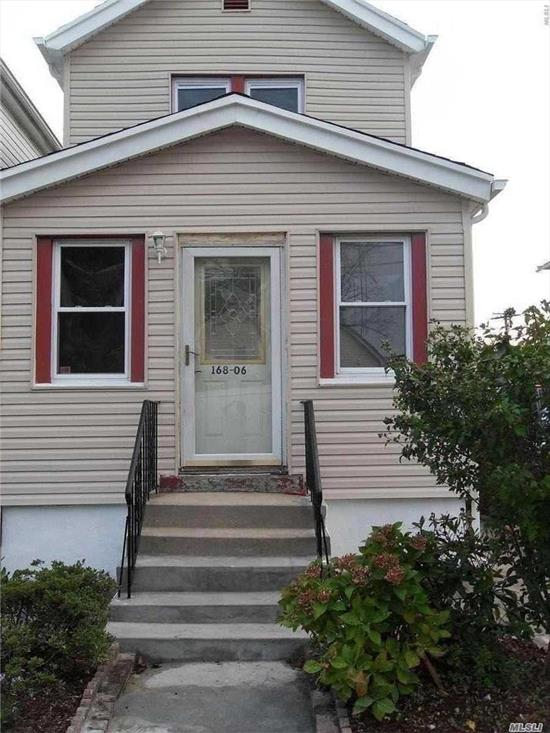 Fully Renovated, New Roof, Siding, Furnace, Hot Water Heater.  Livingroom, Kitchen, 2 Bedrooms Plus Possible 3rd Bedroom Or Office, Full Bathroom On Each Level, Finished Basement With Separate Entrance. Near Public Transportation, Highway And Minutes From Jfk.
