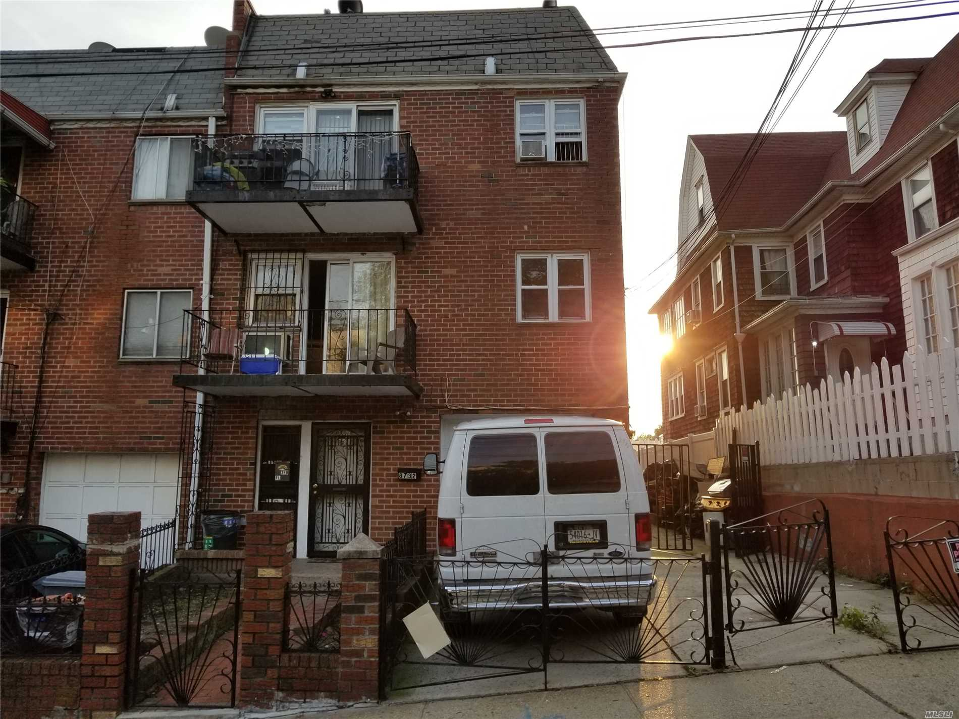 Sold As Is. 2 Family Semi-Detached Brick With 1 Car Garage - 2 Private Driveways. Tenant Occupied. Full Unfinished Basement. F Train At 169th Street Stop . Q65 Bus.