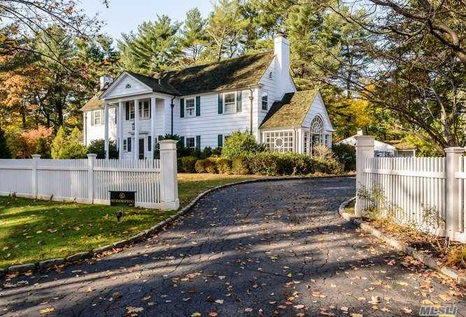 In The Much Sought After Private Community, Elegant 6 Brms Colonial On 2.4 Acres Of Rolling Lawns, Gardens And Arbor. Totally Updated With Large Reception Rooms, Great Kitchen And Family Room.