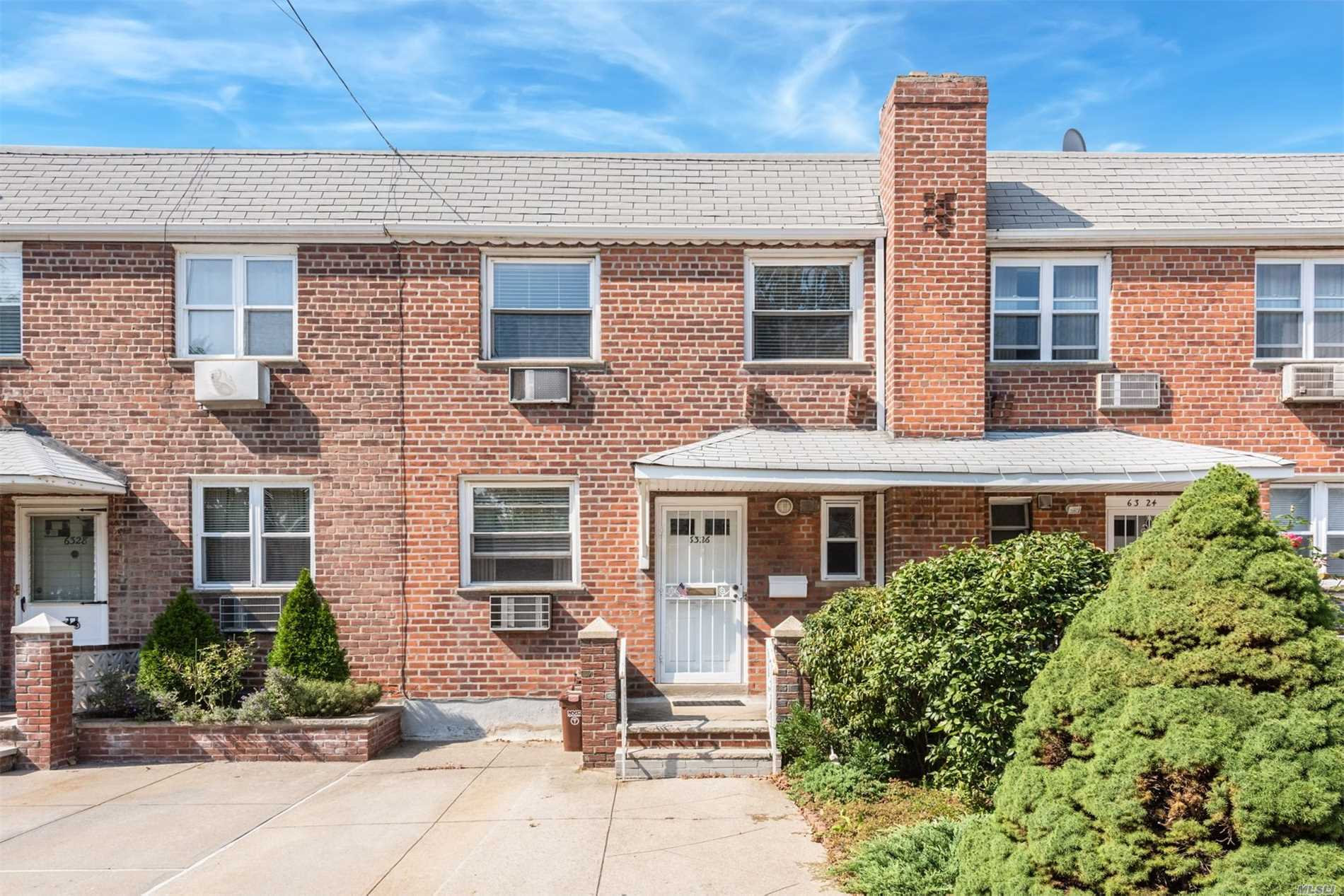 2 Family Brick Home, Completely Renovated With Upscale Material, Including Heating, Plumbing, Electrical. Minutes To Juniper Valley Park. First Floor Includes 1 Large Br And Access To Backyard. 2nd Floor Has 2 Large Br, Lr, Formal Dr, Eik And Full Bath Along With A Patio And Deck Which Leads To The Backyard. Two Car Front Parking Space. Less Than 10 Minute Walking Distance To Q38 And Q67 For Transfers To Midtown. 15 Minute Walk To Middle Village - Metropolitan Ave M Train Station.