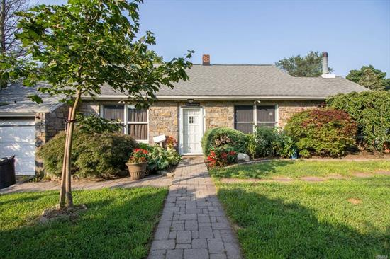 Great Opportunity To Live Near Village! Field Stone/ Cedar Shake Cape. Gas Heat, 4 Bedrooms, 3 Full Baths, Cozy Den/Garden Room With Fireplace. Needs Work! Huge Price Reduction!