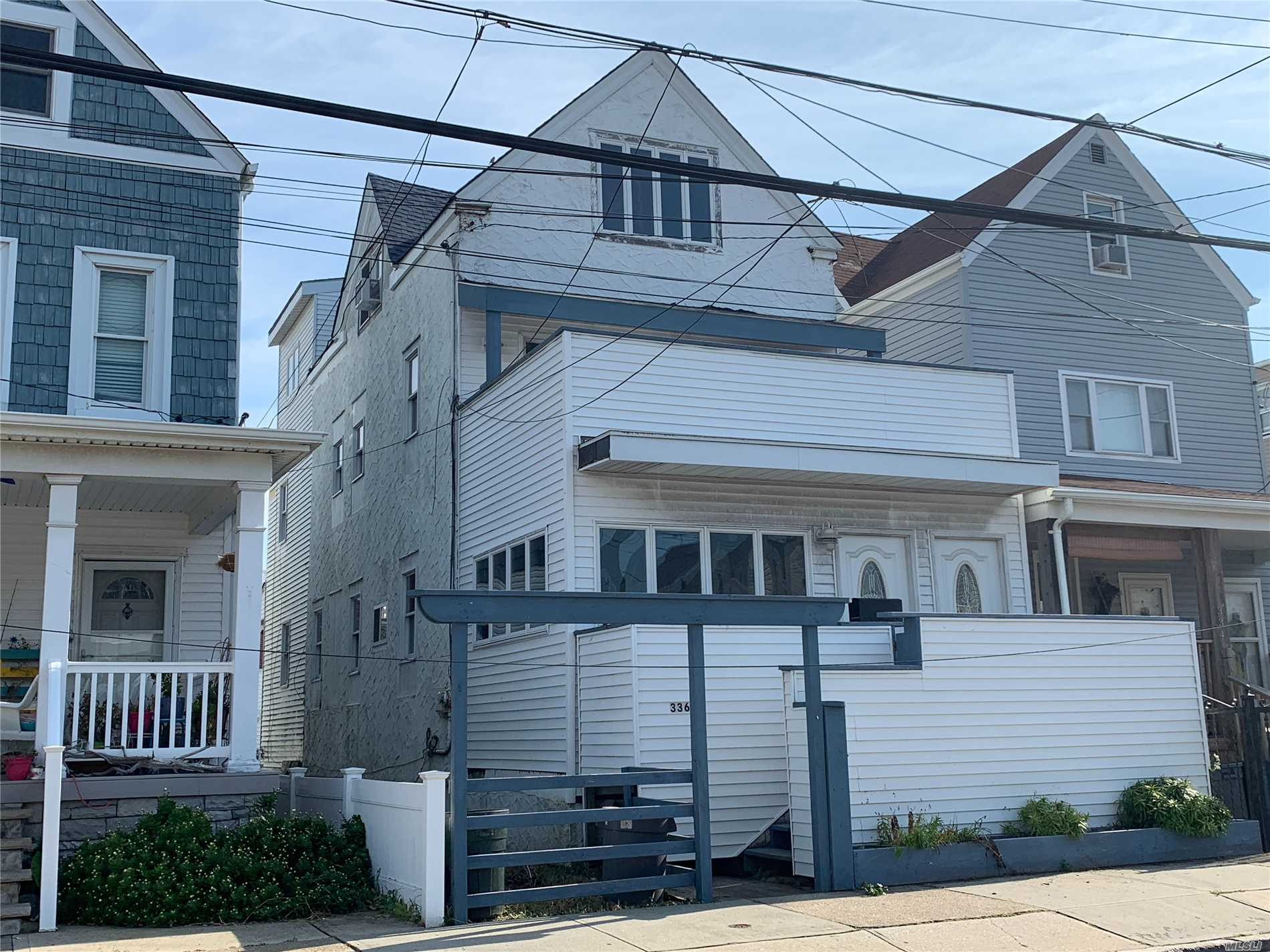 Sold As Is, Legal 2 Family In Happening Rockaway Beach! Property Does Need Rehab, Partially Gutted, Partially Renovated. Property Is Set Up As An Apartment On Each Of The Floors. Only One Current Boiler, 1 Gas And 1 Electric Meter. Rehab Loan Or Cash Only.