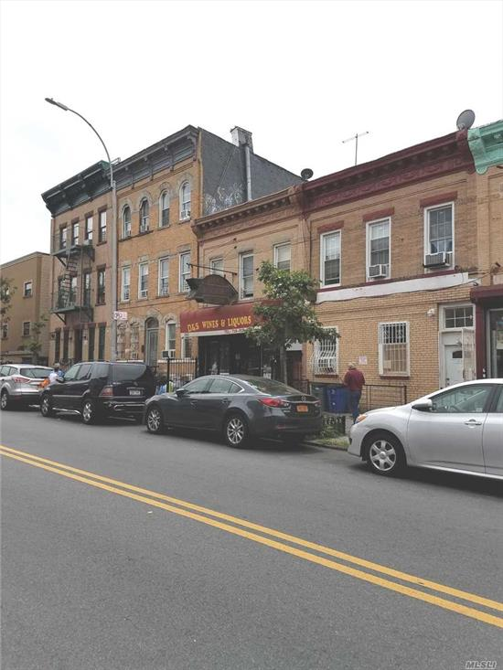 2 Story Building With Full Basement And Back Yard. Tenant On 2nd Fl 2 Bedroom Apartment, Will Be Vacated. Operating Wine & Liquor Store Has 3 Years Left On The Lease Of 1900 Per Month