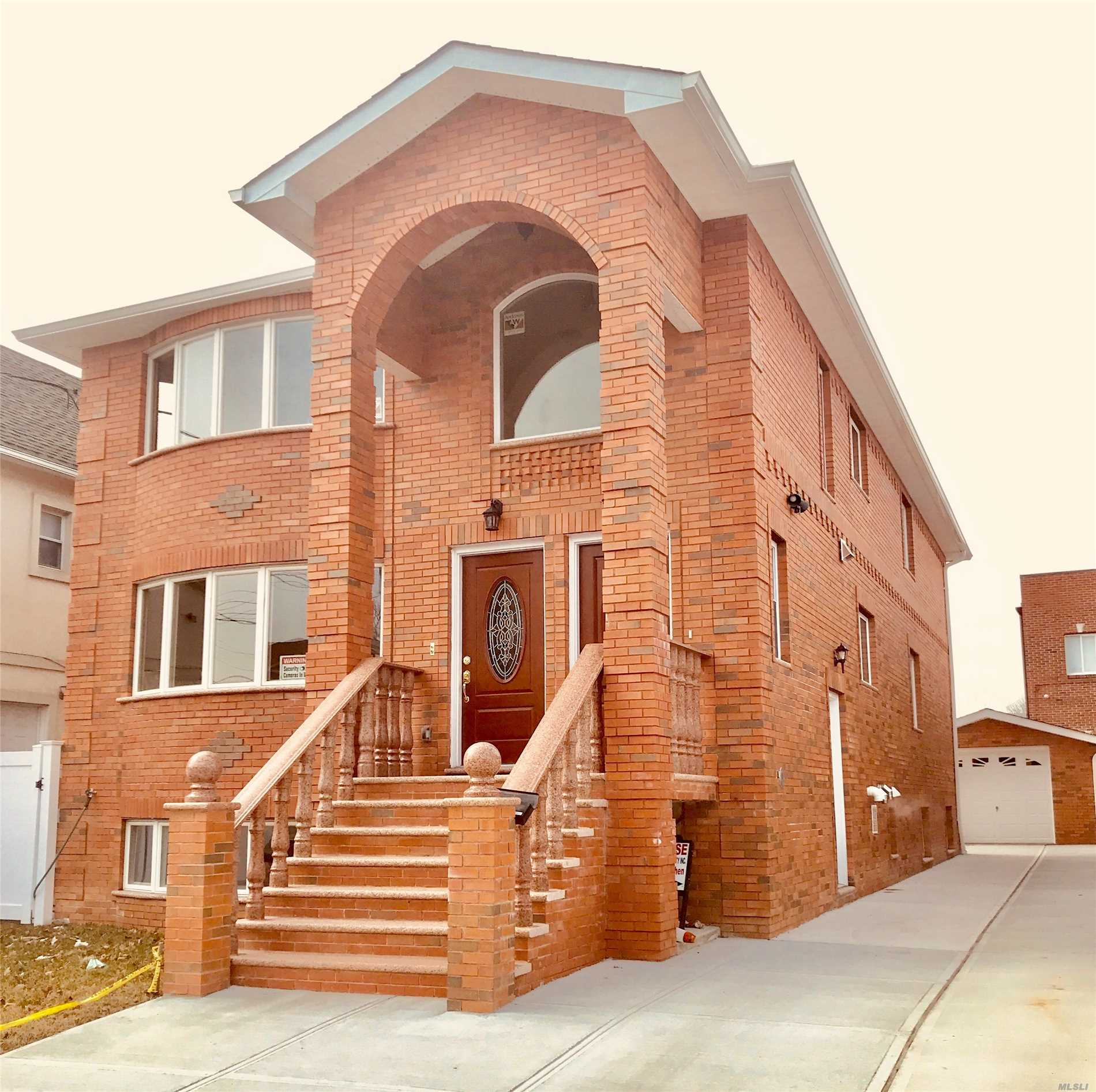 Gorgeous (40X100) Brand New Legal 2-Family In Very Convenient Neighborhood. Potential To Turn Into Professional Usage. Extra-Large Building Size (25X54). Top-Of-The-Line Building Materials. High-Ceiling Basement With Separate Entrance. Beautiful Hardwood Floor. Close To Shops, Bus Stop And Elementary School. Convenient To All.