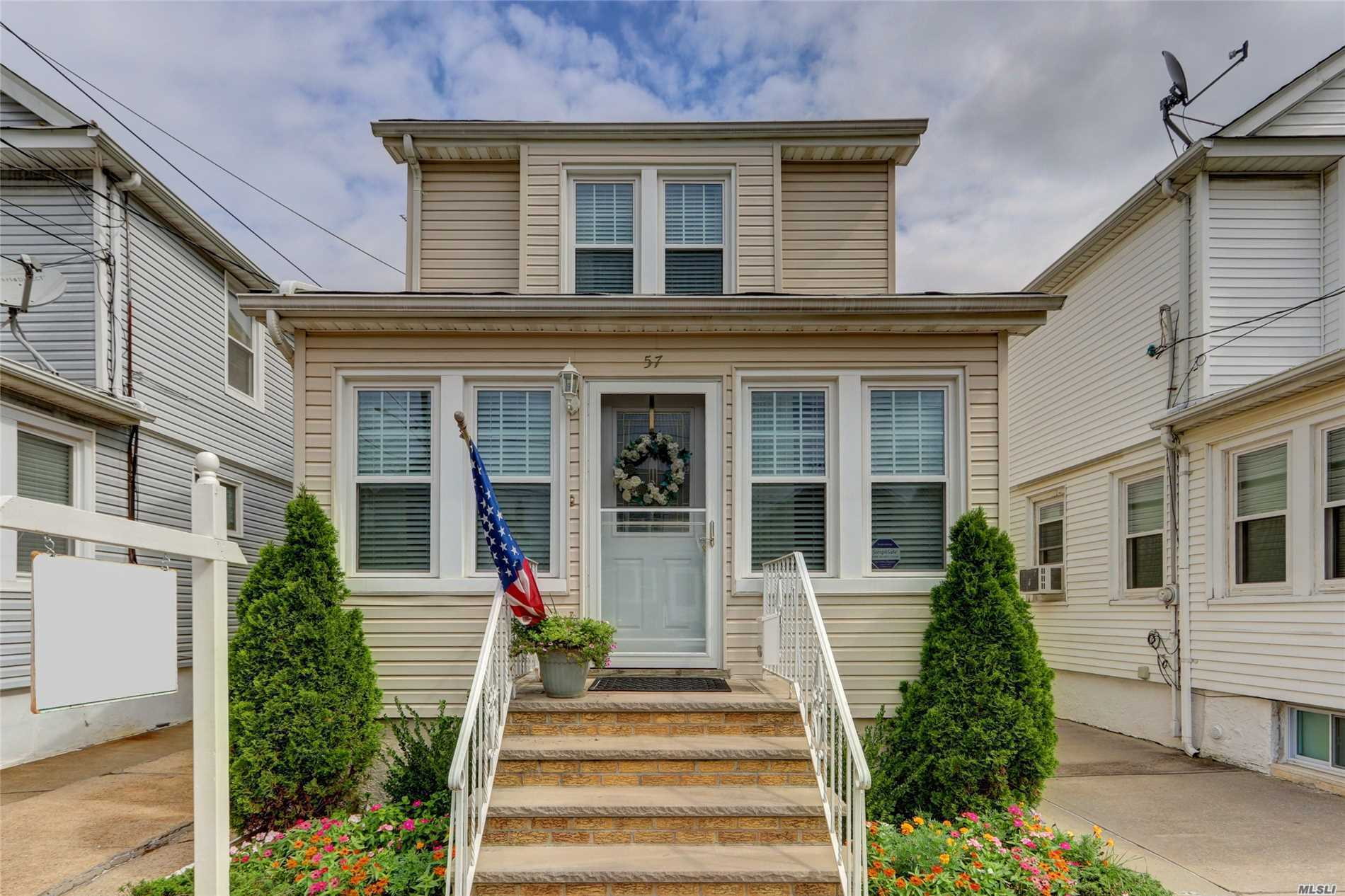Tastefully Updated And Beautifully Maintained 3Br, 1.5 Ba Colonial. Features Formal Living And Dining Rooms, Eik With Gas Cooking, Powder Room On First Floor, Renovated Bathrooms, Lovely Garden With Perennial Plantings. Updated Heating Unit, Windows And Siding. Walking Distance To Transportation And Stores, Easy Access To Highways And Floral Park-Bellerose Schools!