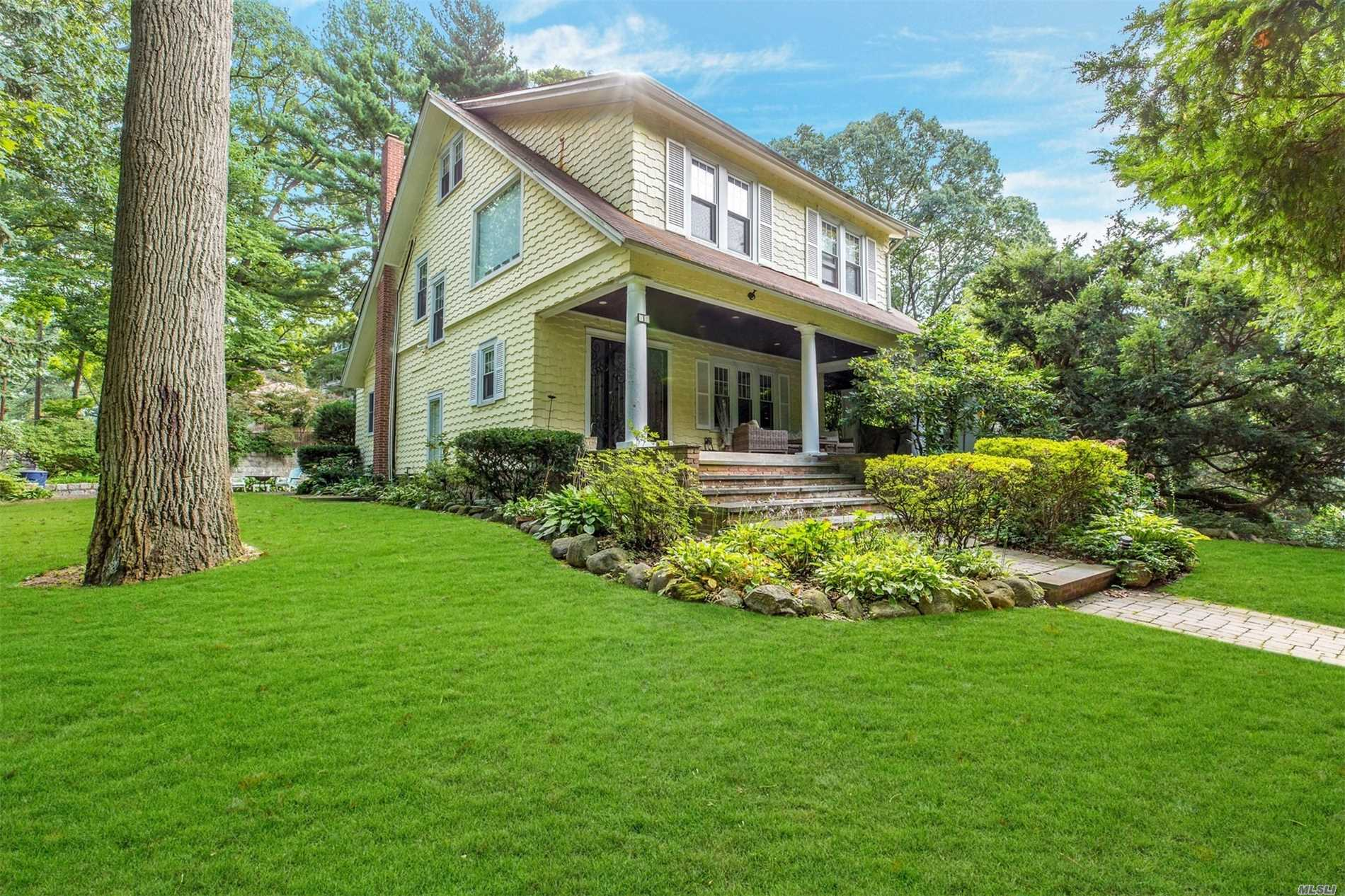 Charming 3 Bedroom, 3 Full Bath Front Porch Colonial Located In Baxter Estates. Large Living Room W/Fireplace Leading Into Formal Dining Room, Oversized Eik Leading To Private Patio. Master With Ensuite, Walk Up Attic, Spacious Wrap-Around Porch With Beautifully Landscaped Yard.