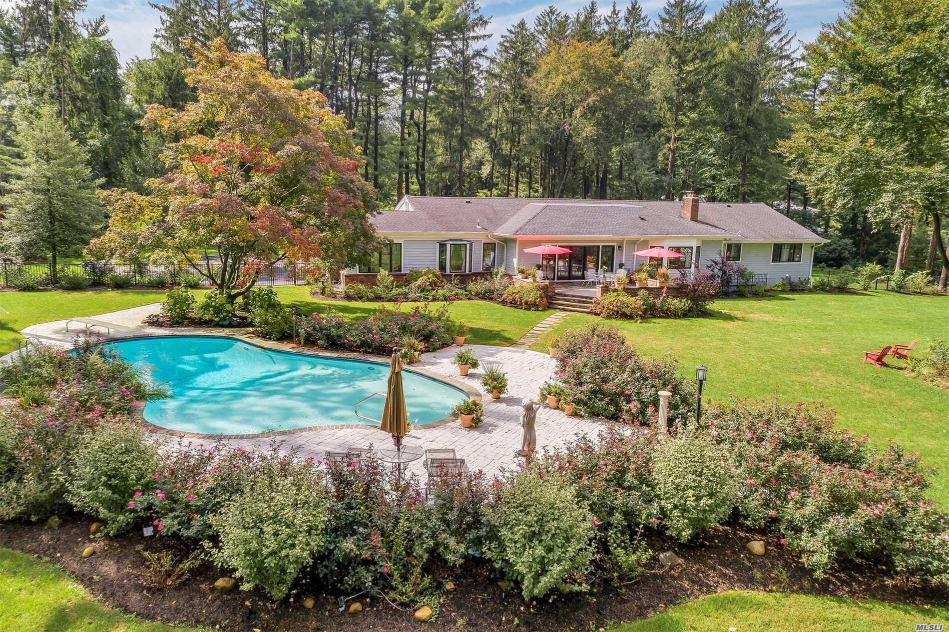 Pheasant Hill-Totally Rebuilt From Studs In 2018. State Of The Art: Bright And Inviting Maintenance Free Siding, Smart Pool, Smart Alarm, 950 Flowering Bushes And Trees, Underground Wiring & Lighting W/Motion Detectors, Too Much To List. Set Back, Fully Fenced And 150 Feet From Cul-De-Sac Overlooking Golf Course With Lovely Views. Turn-Key Easy First Floor Living With Additional 3, 700 Sq.Ft. Of Finished Basement And Cheerful Living Space With Outside Entrance.