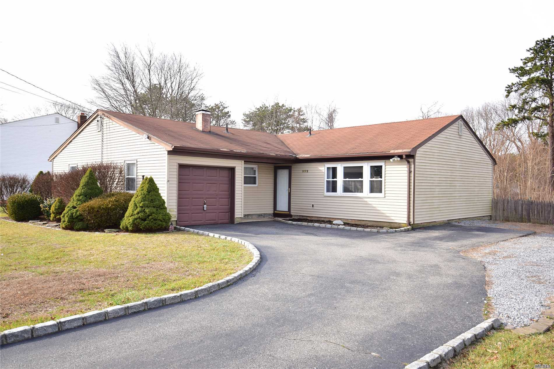 3 Bedroom, 1.5 Bath Ranch With Large Rooms. Updated Vinyl Siding & Windows. Large Flat Clear Property.