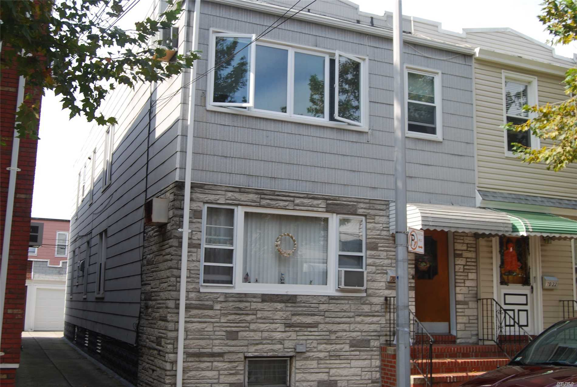 Well Maintained 2 Family Semi-Detached , 3 Bedrooms Over 2 Bedrooms With Finished Basement, 2 Car Garage , Hardwood Floors , , Garage Door And Roof Of Garage Is New, Heating System Is Close To New, Near Shopping And Transportation, Will Be Delivered Vacant