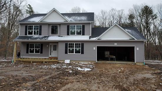 Gentry 3 Design Has 2250 Sq Ft Of Living Space Plus 2 Car Garage And Full 8 Ft Basement With Enclosed Outside Entrance. Features Center Isle Kitchen With 36 Cabinets And Granite Counters, All Hardwood Floors On First Floor And Upper Hall, Central Air, Vaulted Master Br Ceiling, Second Floor Laundry, High Hat Lighting, Natural Gas Heat. Located On 1.25 Acre Cul De Sac In East Moriches School District Use Gps 120 Head Of The Neck To Find Block Have Permit, Now Ready To Build