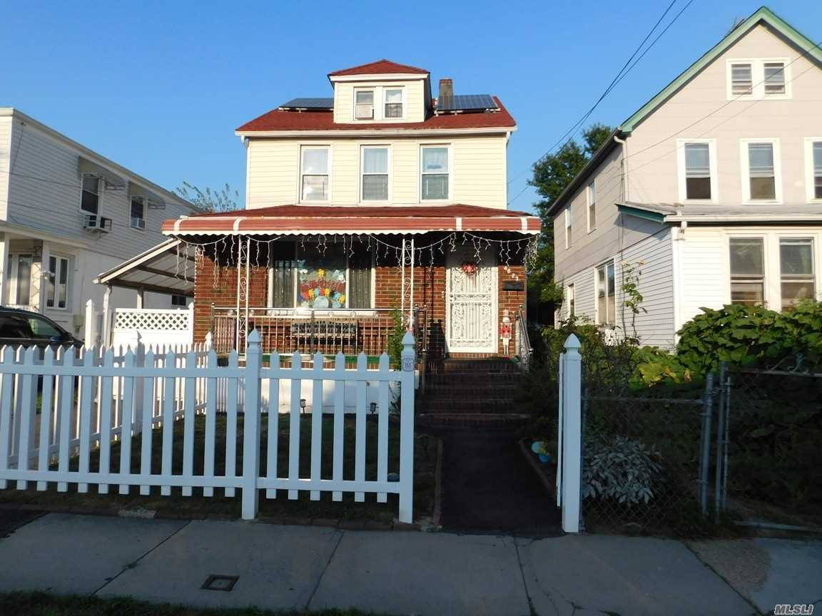 Fully Renovated Beautiful 2 Family House With Solar Electric System, Monthly Electric Bill Only $17.00, House Located In A Desirable Block Of Bayside, (*First Floor Use As Daycare, Buyer Can Take Over The Business*), Large Living Room, 4 Bedroom, 3 Full Bath, Full Finished Basement With Separate Entrance, Bus Q.27 To Flushing, Must See............