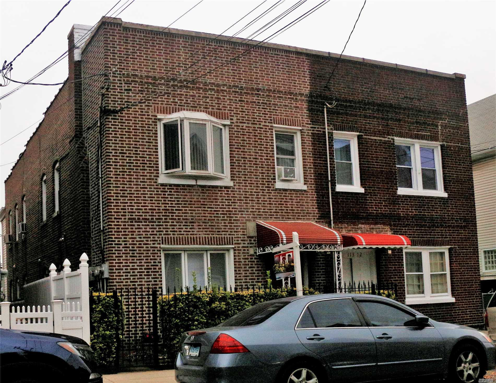 Semi Detached Brick 2 Family With 19X54 Building Size, 1Fl & 2nd Fl With 4 Beds, Eat In Kitchen And Full Bath Plus Sep. Ent. Finished Basement, Parking Space At The Back Of The House, Low Real Estate Taxes, Good For Investment Or Live In. Ez To All, Buses-Q65, Q25, Q20B