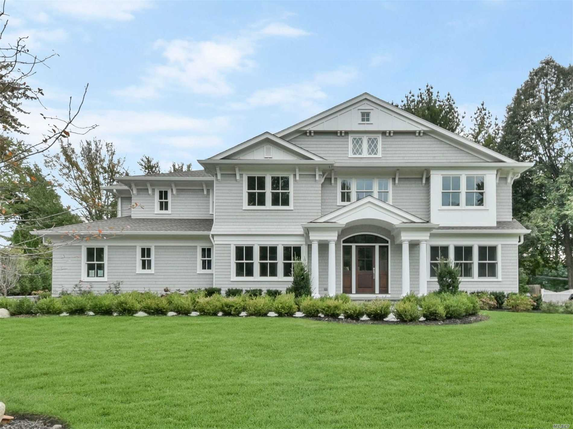 Brand New Construction Of 6, 068 Sqft. Hampton Style Colonial In Desirable Flower Hill. This 5 Bedroom 4.5 Bath Fabulous Home On Park Like Flat Oversized Property That Is Perfect For A Pool. Stunning State Of The Art White Kitchen That Leads To A Bright And Airy Family Room With Coffered Ceilings, Fireplace, And French Doors. Stately Master Suite With Soaring Ceilings And Gas Fireplace. Top Of The Line Finishes. Port Washington School District. Sticker To Port Washington Train.