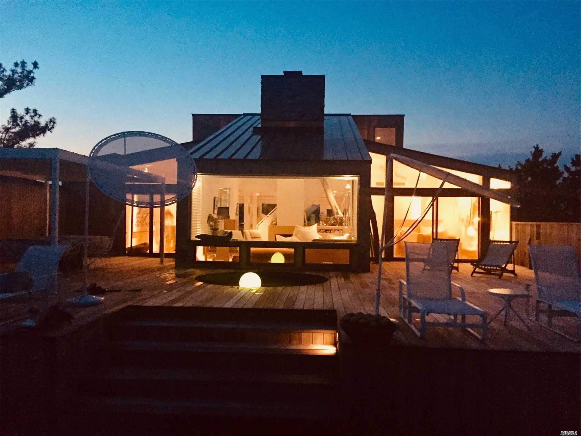 Westhampton Beach, Immaculate Oceanfront, Modern: Sleek And Chic 3 Bedroom, 3 Full Baths, Open Living And Dining, Overlooking The Ocean, Perfect For Entertaining. Hot Tub, Outdoor Showers And Alfresco Dining. First Floor, Ensuite Master Bedroom Fully Opens Onto The Ocean. 365 Degree Water Views. Let The Waves Lull You To Sleep In This Beautifully Appointed Home Or Watch The Bayside Lights Twinkling. Either Choice, This Property Will Complete Your Summer Vacation!
