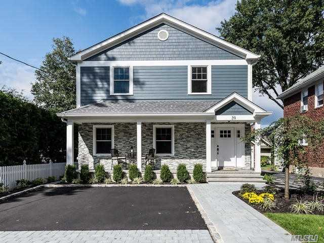 New Construction Within A 10 Minute Walk To Lirr. Built With The Finest Quality Of Materials And Workmanship, This Beautiful Colonial Offers 4 Bedrooms And 3.5 Baths. Open Floor Plan With 9' Ceilings, 2 Gas Fireplaces, Gourmet Eik With European Appliances, Spacious Finished Basement With Ose, Kohler Generator And So Much More. Professionally Landscaped. No Detail Spared!
