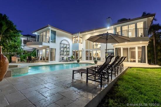 Located In Coveted Seven Isles, This Spectacularly Renovated Wide Waterfront Estate Is Finished With Imported Organic Materials Flowing Effortlessly To Create A Distinctively Designed Vibe Which Transcends Time.<Br />Offering Unparalleled & Unobstructed Intracoastal And Bay Views, This Artfully Crafted Oasis Embodies Luxury Living. Natural Light Flows Through The Floor To Volume Ceiling Windows Creating An Ambiance Second To None. Inspired By The Tranquil, Majestic Vista, The Serene Atmosphere & Rich Use Of Color And Texture Leave One To Feel As If Bathed In Luxury. Exquisitely Designed Onyx & Leather Bar, Gourmet Kitchen W/Wolf Gas Stove & Subzero Appliances, Sonos Sound, Separate Spa His & Her Master Baths, Elevator, Fire Pit, Spa Pool, Generator & Sparkling Water Views From Every Room.