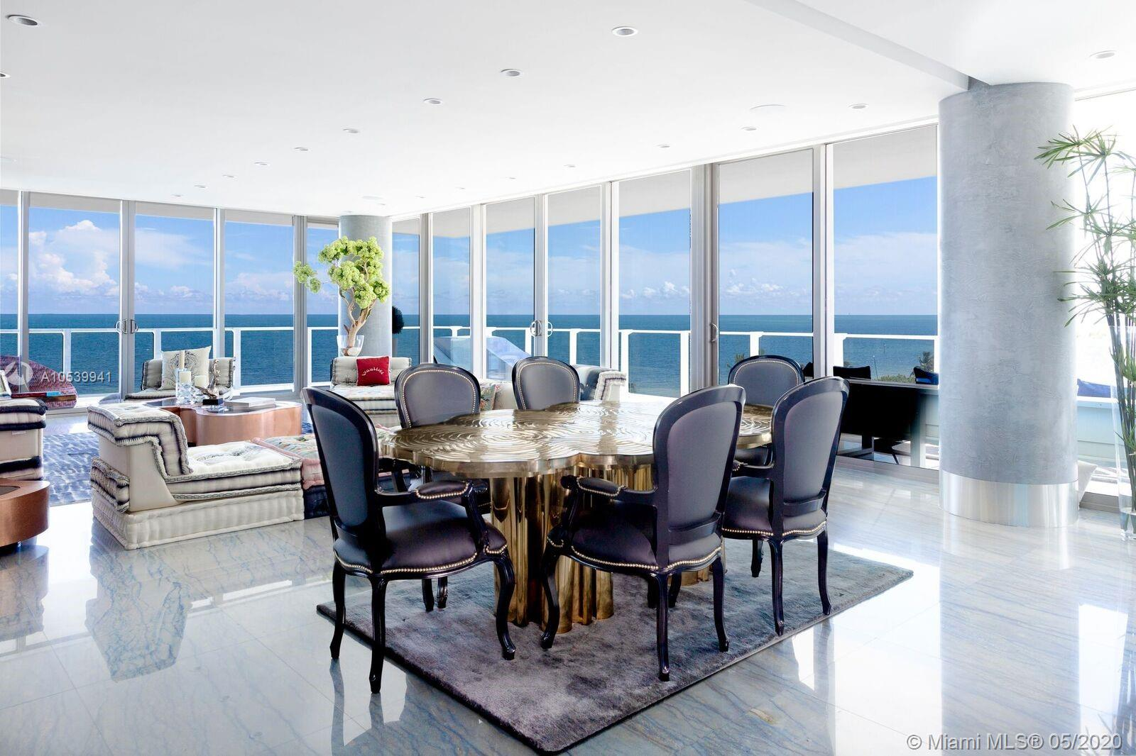One Of Its Kind Corner Unit With Views Of Ocean, Bay, City Skyline, Sunrise & Sunset. 4, 080Sf Under Ac (4 Units). Flow-Through Corner Unit W/ 2000Sf Wrap-Around Terrace. 4Bed+7.5Bath + Maids Quarters. Master Bath His & Hers Marble Thru-Out With Stainless Steel Bathtub With Views Of The Ocean. All Closets Are Italian Designed.Finished Floors With Top Of The Line Italian Marble. Snaidero Kitch&Baths Cabinets. Finished To Perfection! Exclusive Boutique Resort Lifestyle With Spa Facilities, Fitness Center, Lap Pool, Infinity Pool With Restaurant, Tennis Clay Court, Putting Green, Kids Room, Tv Room And Party Room With Kitchen Facilities. 24Hrs. Concierge, Gated Security, Valet. Definitely The Best Building In Kb. I Could Describe This Corner Unit As Your Glass Mansion On The Ocean In Paradise !