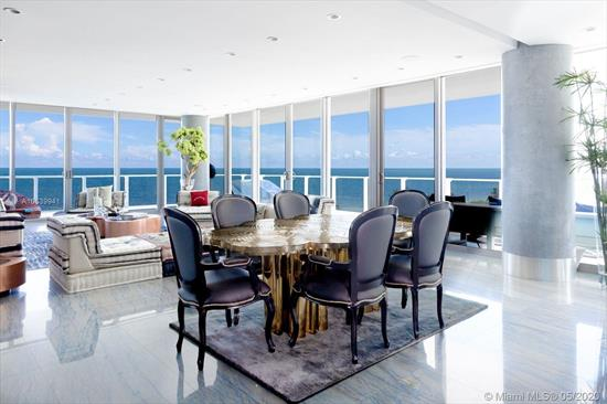 One Of Its Kind Corner Unit With Views Of Ocean, Bay, City Skyline, Sunrise & Sunset. 4, 080Sf Under Ac (4 Units). Flow-Through Corner Unit W/ 2000Sf Wrap-Around Terrace. 4Bed+7.5Bath + Maids Quarters. Master Bath His & Hers Marble Thru-Out With Stainless Steel Bathtub With Views Of The Ocean. Finished Floors With Top Of The Line Italian Marble. Finished To Perfection! Exclusive Boutique Resort Lifestyle With Spa Facilities, Fitness Center, Lap Pool, Infinity Pool With Restaurant, Tennis Clay Court, Putting Green, Kids Room, Tv Room And Party Room With Kitchen Facilities. 24Hrs. Concierge, Gated Security, Valet. Definitely The Best Building In Kb. I Could Describe This Corner Unit As Your Glass Mansion On The Ocean In Paradise !