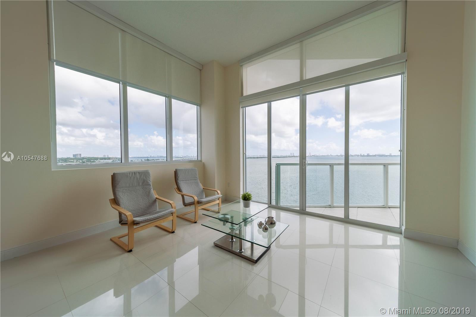 Beautiful High End Building In The Water. Granit Counter Tops, Stainless Steel Appliances Great Location As Miami Entertainment Uptown, Walking Distance Restaurants,  Entertainment And Shops. Beautiful Corner Unit Spacious 2Beds/ 2.5Baths.1368 Sqft. Furnished Unit With Spectacular Bay And City Views. High Ceilings 12.1 Feets.<Br /> Great Amenities: Pool In Front Of The Bay,  Sauna, Steam Room, Gym, Yoga Room, Billiards Room, And More Amenities.