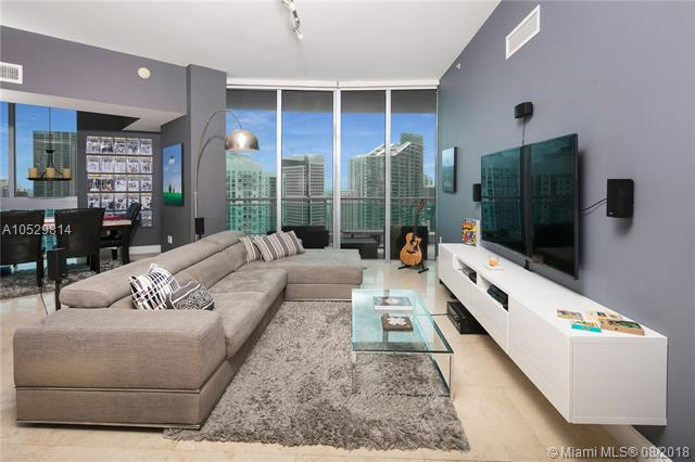 Amazing 3 Bedroom 2 Bath Penthouse At Wind, With Bay And Miami River Views From Every Room. Renovated Kitchen And Bathrooms, Make This A Great Value For Under $500, 000. Best Value In The Building, As This Unit Is In The Top Floor And Has 11+Ógé¼Gäó Ceilings That Are Only Available In The Top Floor. Building Has Amazing Amenities, Gym And Pool. Close Distance To Brickell City Centre And Mary Brickell Village.