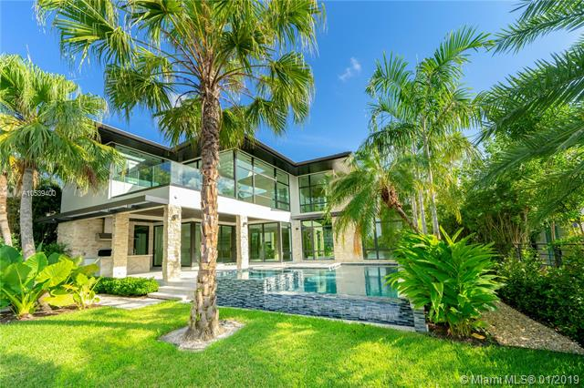 Be The First To Live In This Brand-New Chic Contemporary Waterfront Home W/ 80' Of Deep Wide Water Frontage. New Dock And Seawall With No Bridges To Bay/Ocean. Beautifully Designed 6 Bed/6 Full Baths/2 Half Baths W/ High-End Finishes, Summer Kitchen By Pool & Water, Dramatic 28Ft.Ceiling In Great Rm, Imported Italian Open Kitchen W/ Sleek Stainless-Steel Wolf Appliances, Mia Cucina Custom Cabinetry, Wide Plank Marble Flooring, Glass Railing W/ Wenge Wood Staircase, Wine Rm. A Perfect Floorplan For Family Living/Entertaining. Smashing Master Bedrm W/ Huge Custom Closet & Spa-Like Bathrm W/ Walk-In Rain Shower & Soaking Tub. 4Bedrm Suites Upstairs, Terraces, Laundry Rm & 2 Beds Downstairs W/ Elevator, Office & Double Height Garage. Lutron Home Automated Lighting System. Stunning Landscaping.