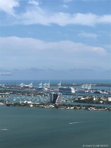 Amazing Ocean, Miami Skyline And Port Of Miami Views From This Unit, Wide Balcony, Sip A Glass Of Wine While Watching The Beautiful Sunset. Great Space, Unit Needs Some Work, But It Is A Great Buy. Location Is The Best, 1 Step From South Beach And The Hip Vibrant Downtown, Brickell Area.