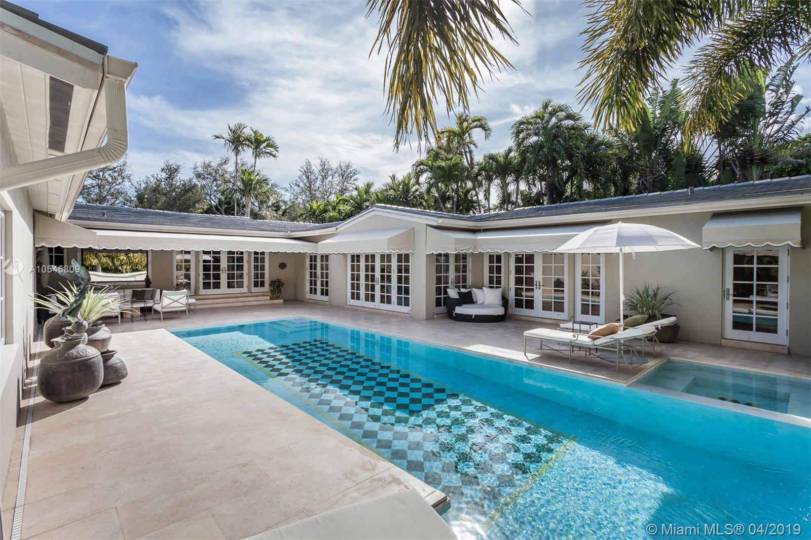 Live In The Coveted South Gables Neighborhood In This Renovated 3, 654 Square Foot Residence. This Spacious And Light Filled Home Was Freshly Painted In A Crisp Color Palette That Provides A Comfortable & Contemporary Experience. Foyer Entryway Introduces You To A Large Open Layout With Stunning Views Of The Outdoors From Every Room. This Spectacular Custom Home Boasts 4Br, (2 Master Suites, 1 Oversized Room, 1 Bd Conv. To Office), 3 Full+1 Half Ba. Features Include A Gourmet Chef+Ógé¼Gäós Kitchen, Formal Dining Room, Hardwood And Stone Flooring. French Doors Lead To An Outdoor Oasis With Covered Dining, A Marble Pool/Spa W/ Waterfall, Complete With Led Lighting And Smart Controls. The Home Is Nestled On A Lush 11, 250 Square Foot Lot With Mature Landscaping. Full Roof Replacement In 2019.