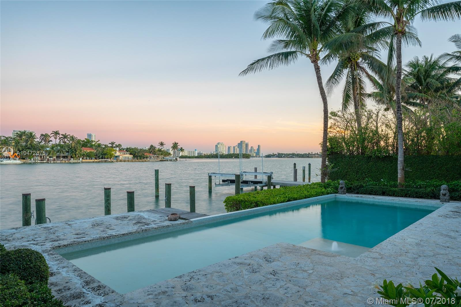 This Stunning Two-Story Waterfront Home On Coveted Venetian Islands Is The Perfect 10! Completely Renovated It Features 5, 641 Sqft Of Impeccably Designed Interior Spaces Including 5 Bedrooms, 6.5 Bathrooms, 2-Car Garage Under Air-Conditioning Plus An Attached 1 Bedroom/1 Bathroom Guest/Nanny/In-Law Quarters W/ Independent Entry. The Gourmet Kitchen Sports Top Of The Line Appliances While The Second-Floor Master Suite Features Generous Walk-In Closet, His And Hers Bathroom, And Secluded Private Balcony Overlooking The Tranquil Waters. The Private Dock, 60 Feet Of Sparkling Waterfrontage, Covered Outdoor Terrace, Heated Pool, Tons Of Natural Light, And Proximity To Miami International Airport, Downtown, And Lincoln Road All Make This An Exquisite Oasis!