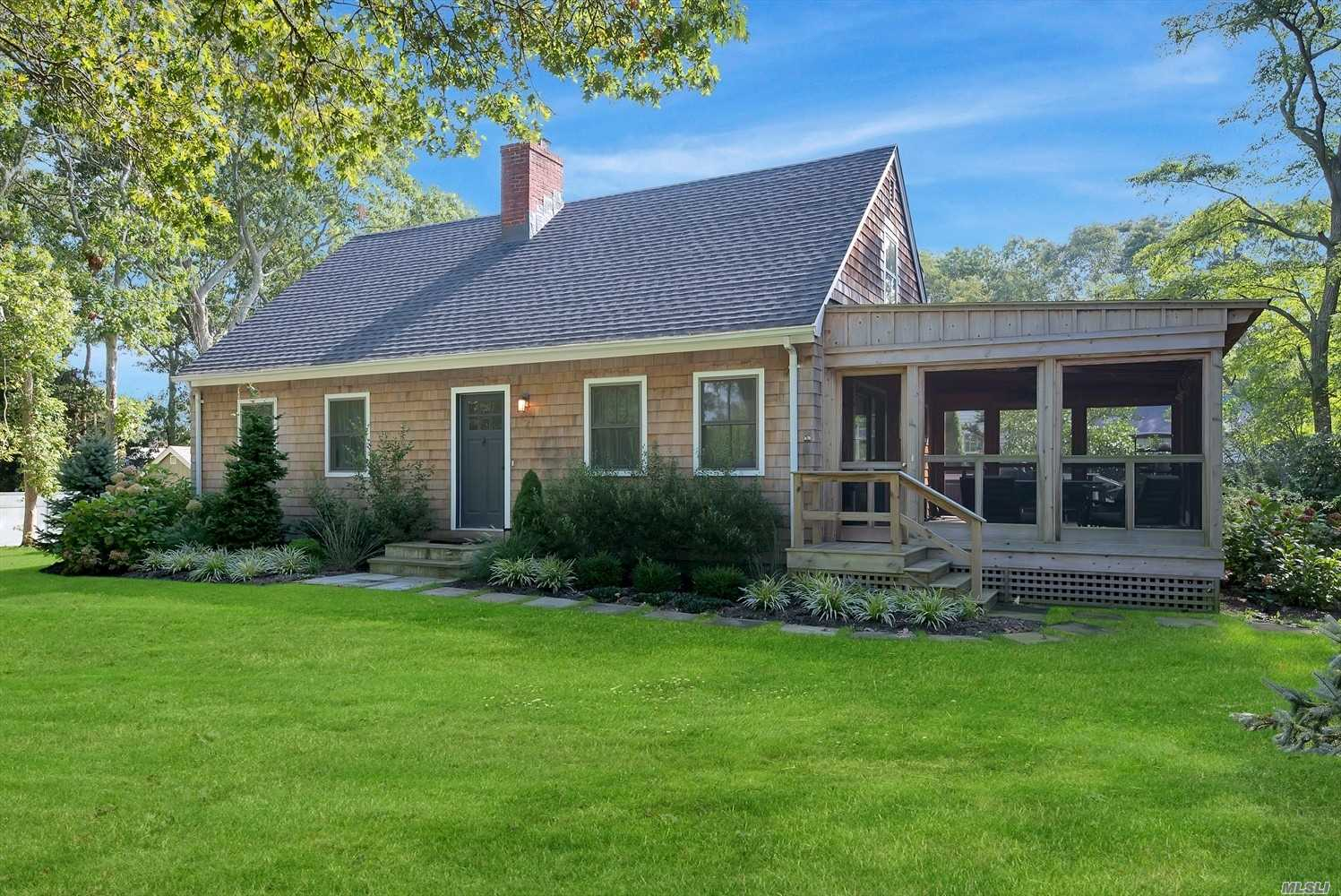 Move Right In To This Beautifully Renovated Cape Located On A Large Corner Property Overlooking An Idyllic Tree Farm In E. Quogue. Completely Updated In 2016, The Home Has New Master Br W En-Suite Bath, New Kitchen Appliances, W/D, Solid Plank White Oak Flooring Downstairs, Windows And Sliders, Heating And Cac, Plumbing, Electric, And Irrigation Systems, Garden Shed, And A Brand New Gorgeous Screened In Porch With Skylights!
