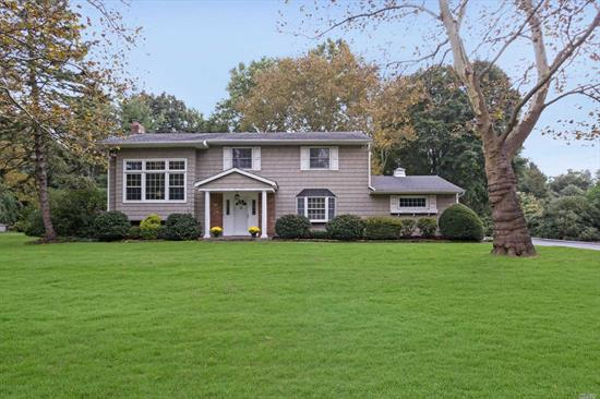 Private & Peaceful 1 Acre Setting. Convenient To Huntington Village. Dramatic Lr Vaulted Ceiling & Wall Of Windows! Lovingly Maintained & Updated 4 Br Home. Remodeled Eik With New Appliances. Vinyl Shakes & Roof 2005. Replacement Windows. Hw Flrs. Lovely Acre Setting....Perfect For Pool.
