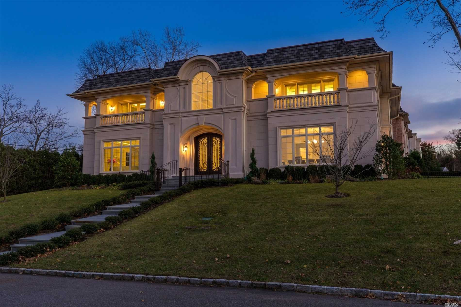Dazzling New Construction!Epitome Of Luxury & Design!Sun-Lit Home W/Large Bedrooms, Designer Baths, Large Entertaining Rooms, Chef's Kitchen, Soaring Coffered Ceilings W/ Cove Lighting, Elevator, Finished Basement.Beautiful Water Views From Master Bedroom Balcony, Spa-Like Master Bath.Part Of Saddle Rock's Waterfront Pool Club With Tennis Courts, Playground, Basketball & Marina.