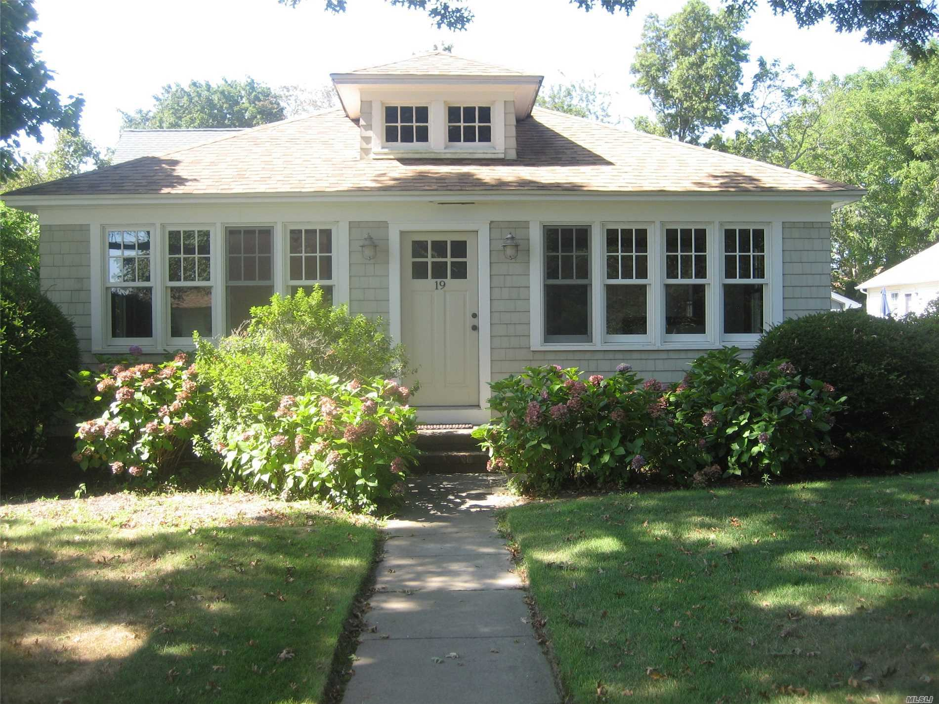Sunny Waterview Cottage - One House From Sandy Peconic Bay Beach - Updated Kitchen & Bath, Living Room, Dining Room/Sitting Room Combo. Wood Floors, Cac, Gas Heat. No Pets.