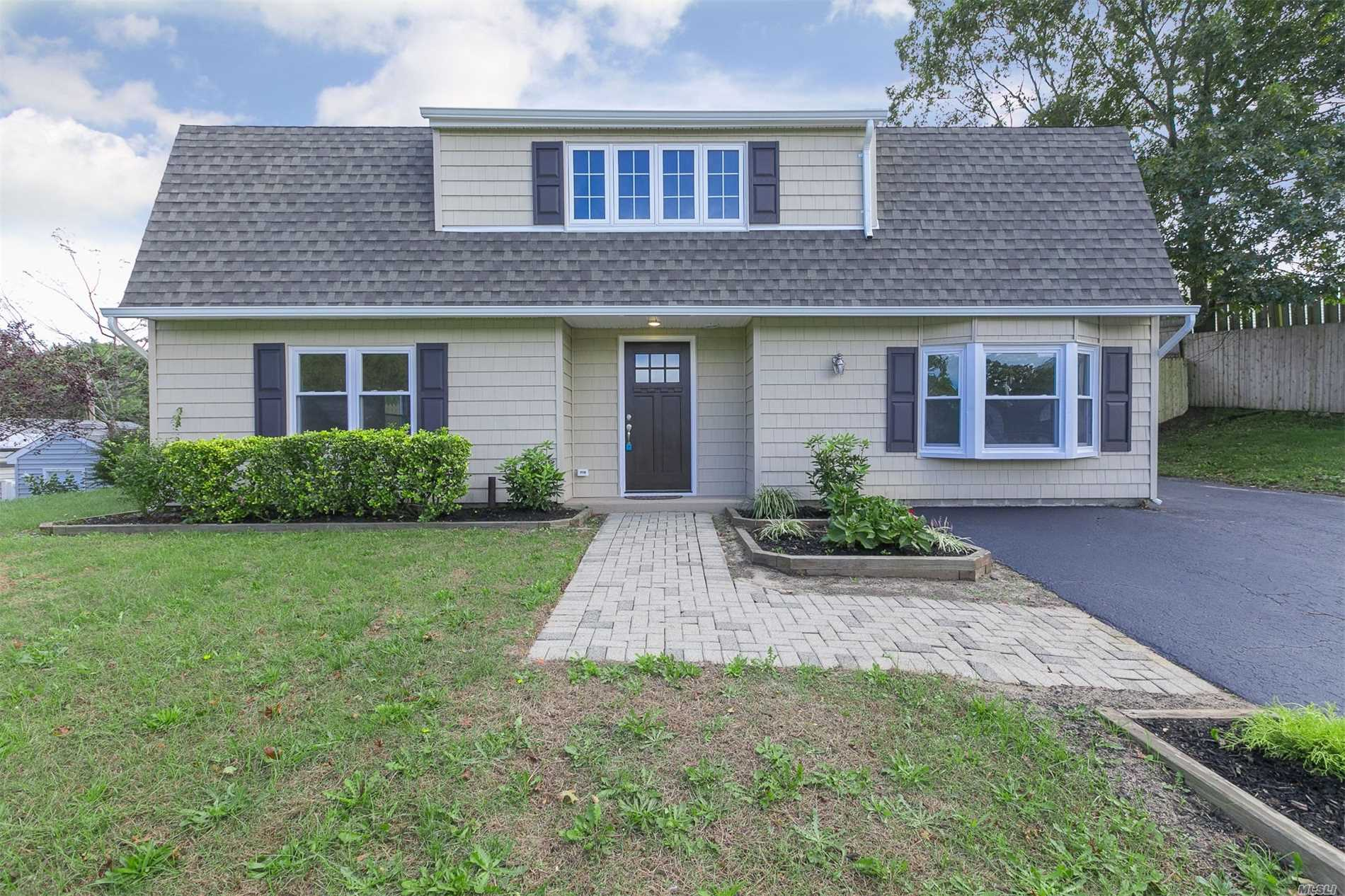 Beautifully Renovated Colonial, Eik, White Shaker Cabinets, Quartz Counter Tops, Subway Tile Back Splash, Ss Appliances, Over Sized Br's, New Ba With Carrera Marble, Mosaic Marble, Subway Tile,  Hardwood Floors, Sky Lights, New Roof, New Heating System, Free Form In-Ground Pool With New Liner. A Must See!
